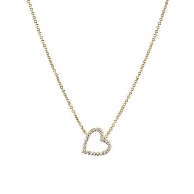 ナディール レディース ネックレス・チョーカー アクセサリー Valentine's Day Pav Open Heart Necklace 16