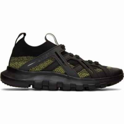 ジーゼニア Z Zegna メンズ スニーカー シューズ・靴 black and yellow techmerino sneakers Yellow/Black