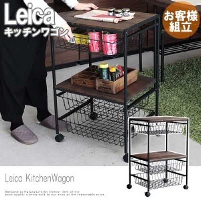 Leica ライカ キッチンワゴン (ブラウン 木製 キッチンワゴン スチール キャスター付き ヴィンテージ アメリカン)