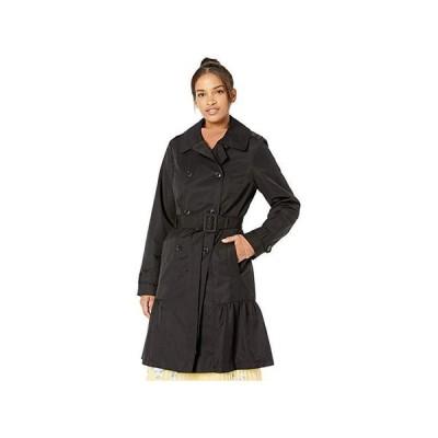 ケイトスペード Cotton Blend Trench Coat with Waist Tie レディース コート アウター Black