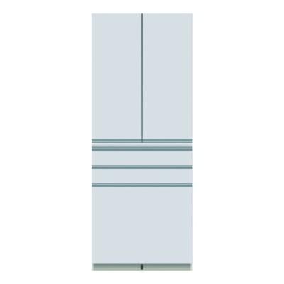 食器棚 幅80 奥行45 高さ203 キッチン収納 キッチンボード 開き扉 日本製 パモウナ ダイニングボード DQ-S 800 K W (配送員設置)