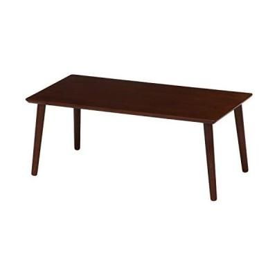 不二貿易 ローテーブル 幅80cm ブラウン 簡単組み立て 10864 (ブラウン)