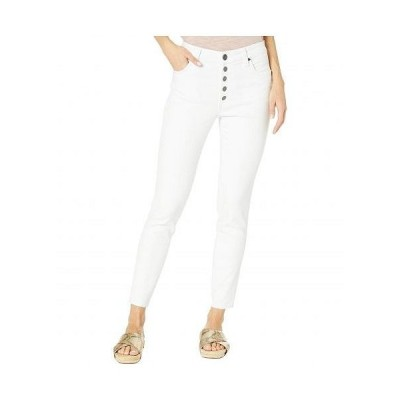 KUT from the Kloth カットフロムザクロス レディース 女性用 ファッション ジーンズ デニム Connie High-Rise Ankle Skinny Exposed Button Raw Hem in Opti..