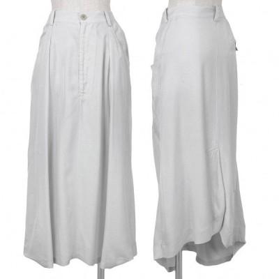 ワイズ Y's レーヨンキュプラデザインスカート ライトグレー2 【レディース】