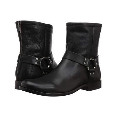 フライ Phillip Harness Short レディース ブーツ Black Soft Vintage Leather