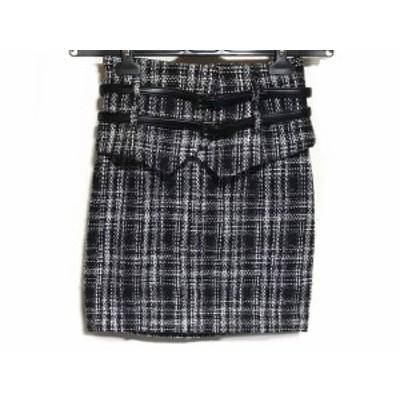 リエンダ rienda スカート サイズM レディース 黒×グレー×マルチ【還元祭対象】【中古】20200318