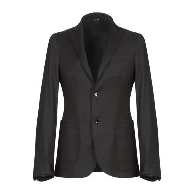 GAZZARRINI テーラードジャケット ブラック 44 ポリエステル 70% / レーヨン 28% / ポリウレタン 2% テーラードジャケット