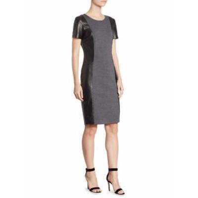 セント ジョン レディース ワンピース Short Sleeve Two-Tone Dress