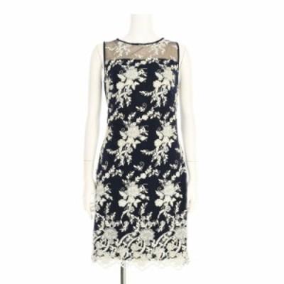 ラルフローレン RalphLauren ドレス サイズL レディース 新品同様 ネイビー系 カクテルドレス【中古】20210312