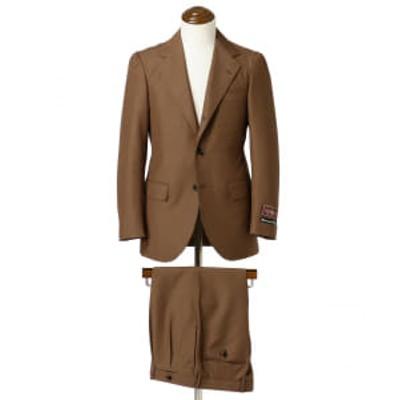 BEAMS F / BOWER ROEBUCK ブラウンソリッド スーツ