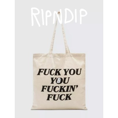 RIPNDIP リップンディップ バッグ トートバッグ キャンバス メンズ レディース ユニセックス リッピンディップ ファックキャット RND3611