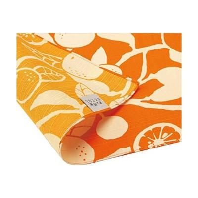 三陽商事 京の両面おもてなし ふろしき 中巾 橙 橙色 だいだいいろ 14-054111 約50cm幅