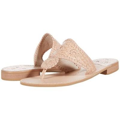 ジャックロジャース Jacks Croc Embossed Flat Sandals レディース サンダル Blush