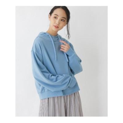 キューティーブロンド Cutie Blonde 【M-L】フードカジュアルプルオーバー (ブルー)