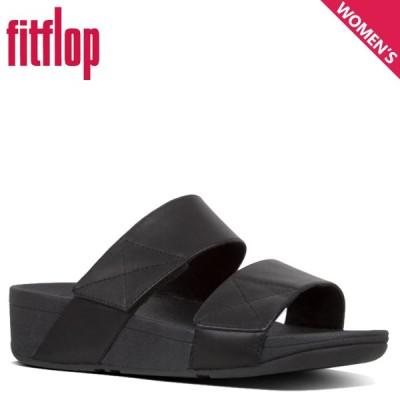 フィットフロップ FitFlop サンダル ストラップサンダル レディース MINA SLIDES SANDALS ブラック 黒 X18
