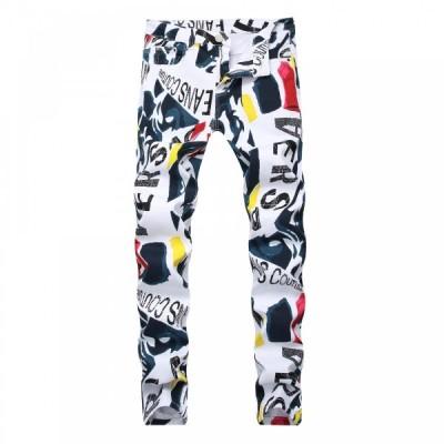 プリント ジーンズ ジーパン デニム  デニムパンツ パンツ スキニージーンズ スキニーパンツ メンズ 大きいサイズ