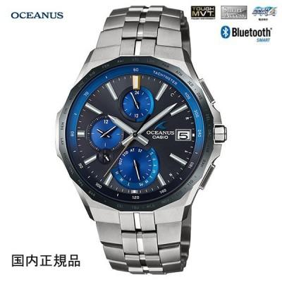 カシオ 腕時計オシアナス マンタMULTIBAND6 TOUGH MVT ソーラー電波 スマートフォンリンク機能 OCW-S5000E-1AJF メンズウォッチ