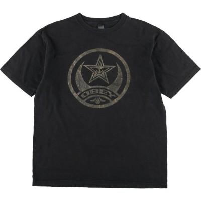 OBEY サーフ スケートTシャツ USA製 メンズL /eaa160510