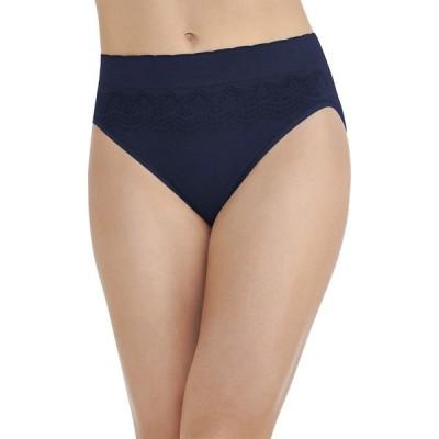 バニティフェア Vanity Fair レディース ショーツのみ インナー・下着 No Pinch-no Show Seamless Hi Cut Panty 13171 Hi Cut/Ghost Navy Lace