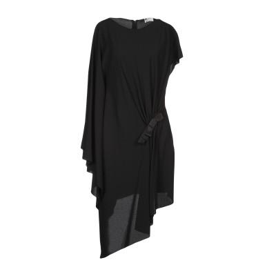 ランバン LANVIN ミニワンピース&ドレス ブラック 36 レーヨン 97% / ポリウレタン 3% ミニワンピース&ドレス