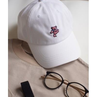 COLLARS / 【Gratefull Dead / グレートフルデッド】 刺繍 ダンシング ベアー LOW CAP MEN 帽子 > キャップ