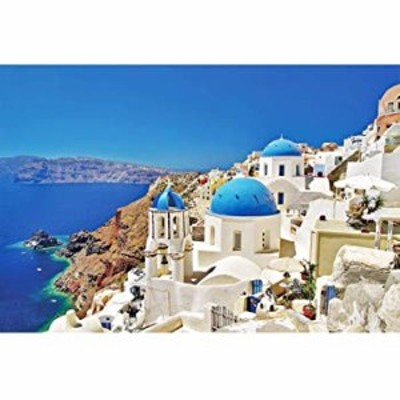 Woapech 1000 Piece Puzzles Aegean Sea Jigsaw Puzzle for Teen Adult Grown Up Puzzles Stress Relief Game