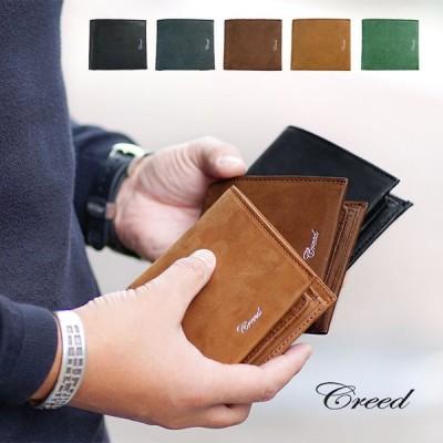 1年保証 クリード ラブ 二つ折り財布 ボックス型小銭入れ 折財布 メンズ CREED RUB 312C873