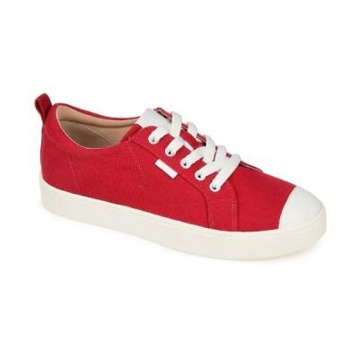 ジャーニーコレクション スニーカー シューズ レディース Women's Meesh Wide Sneakers Red