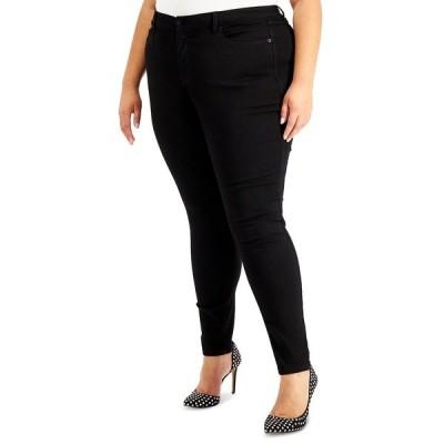 アイエヌシーインターナショナルコンセプト デニムパンツ ボトムス レディース INC Plus Size Essex Super Skinny Jeans, Created for Macy's Deep Black