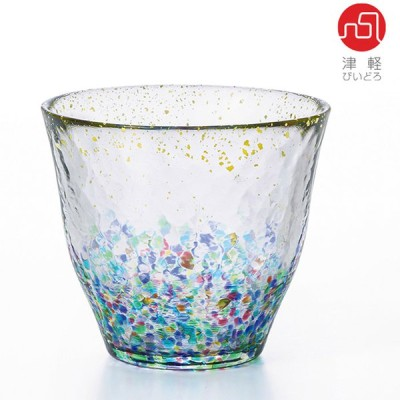 石塚硝子 ISHIZUKA GLASS アデリアグラス ADERIA GLASS 津軽びいどろ 330ml MATSURI まつり金彩ロックグラス  F71890  HANABI はなび金彩ロックグラス  F71895