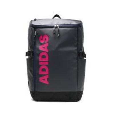 adidas(アディダス)アディダス リュック adidas リュックサック スクールバッグ 通学 通学リュック バッグ バックパック スポーツ B4 A4 30L レディース メンズ スクエア ボックス 中学生 高校生 学生 おしゃれ 撥水 大容量 大きめ ブランド 62792 ネイビーxピンク(12)