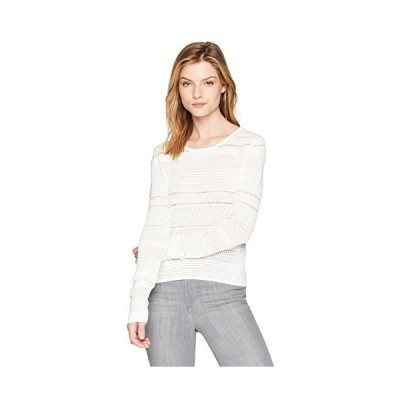 Joe's Jeans Women's Zinnia Pointelle Sweater, Pristine, M並行輸入品 送料無料