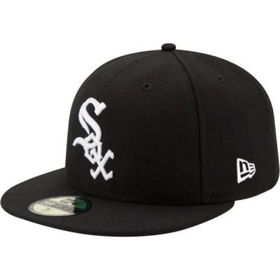 ニューエラ New Era メンズ キャップ 帽子 Chicago White Sox 59Fifty Game Black Authentic Hat
