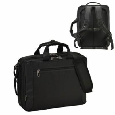 ビジネスバッグ 3way メンズ  仕事 出張 通勤 モビーズ ドビーナイロンシリーズ 3way 2室式 B4ファイル ブラック 26623