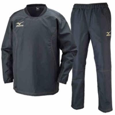 ミズノ タフブレーカーシャツ&パンツ 上下セット ブラック×ブラック  MIZUNO R2ME6002-09-R2MF6002-09
