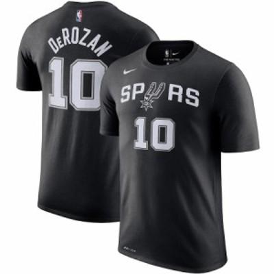 ナイキ メンズ Tシャツ DeMar DeRozan San Antonio Spurs Nike Player Name & Number Performance T-Shirt 半袖 Black
