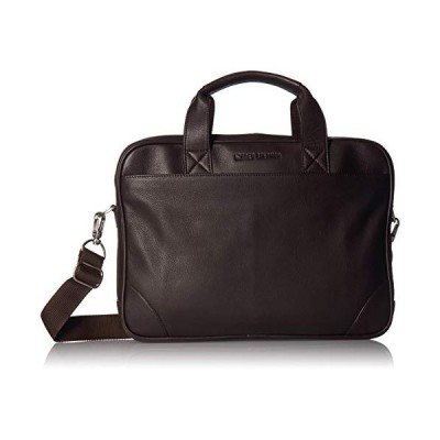 "Ben Sherman Unisex's Karino Leather 15"" Laptop Business Case Briefcase, Brown, One Size 並行輸入品"