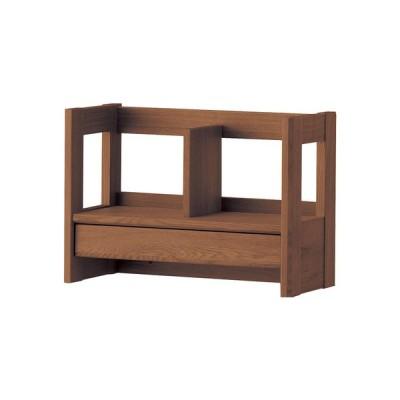 天然木使用 完成品 卓上 ブックスタンド 引き出し付き 小物入れ デスク 机 シェルフ 棚 本棚 コンパクト 木製 コイズミ KOIZUMI BEENO(ビーノ) 本立て 3色対応