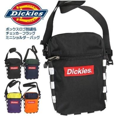 DICKIES ショルダーバッグ ボックスロゴ刺繍 ミニショルダー ディッキーズ チェッカーフラッグ DICKIES-605