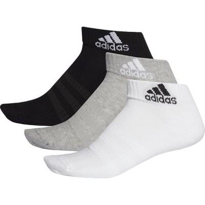 アディダス adidas パフォーマンス3Pショートソックス UNISEX ミディアムグレーヘザー×ホワイト×ブラック M FXI63