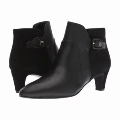 コールハーン ブーツ Sylvia Bootie Black Waterproof Leather