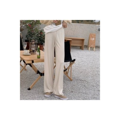 【送料無料】早春 韓国風 ファッション レジャー 引きひも ワイドパンツ 着やせ ロ | 346770_A64721-1824737