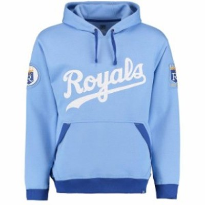 Majestic マジェスティック スポーツ用品  Majestic Kansas City Royals Light Blue Reach Forever Cooperstown Pullover