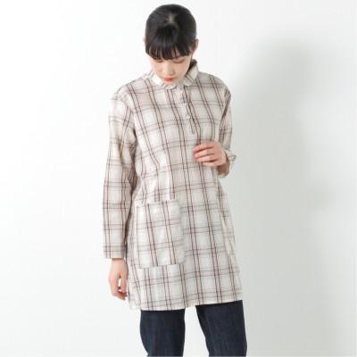 柔らかな綿100%フランス綾素材の丸襟シャツチュニック