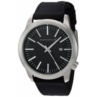 MomentumメンズクオーツステンレススチールとキャンバスDress Watch , Color : Black ( Model : 1?m-sp10b6b )