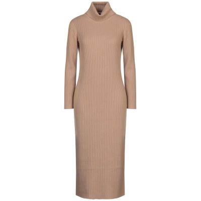 ファビアナフィリッピ FABIANA FILIPPI 7分丈ワンピース・ドレス キャメル 42 カシミヤ 100% 7分丈ワンピース・ドレス