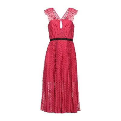 SELF-PORTRAIT 7分丈ワンピース・ドレス ガーネット 8 ポリエステル 100% / レーヨン 7分丈ワンピース・ドレス