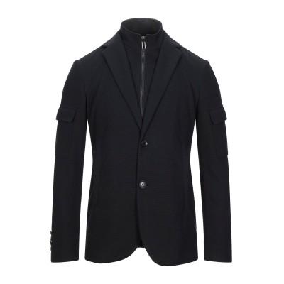 エンポリオ アルマーニ EMPORIO ARMANI テーラードジャケット ブラック 46 ポリエステル 98% / ポリウレタン 2% テーラード