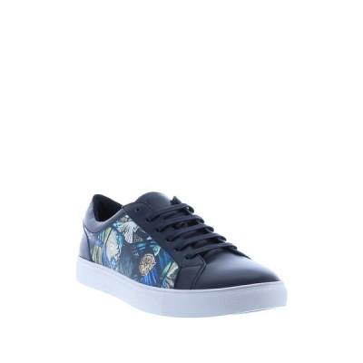 ロバートグラハム メンズ スニーカー シューズ Sheeler Arts Leather Lace-Up Sneaker NAVY