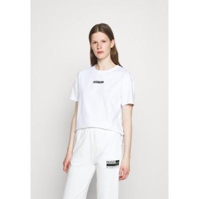 フューゴ Tシャツ レディース トップス THE BOXY TEE - Print T-shirt - white